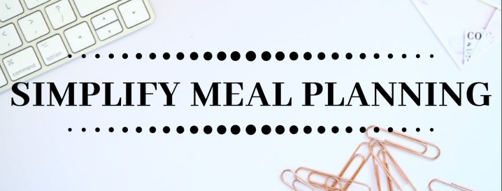Simplifying Meal Planning